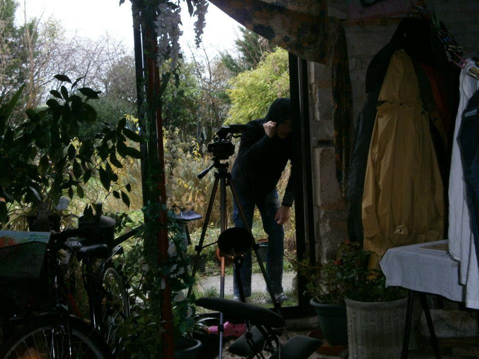 Sur le tournage du film \