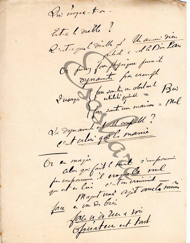 Manuscrit de Papus