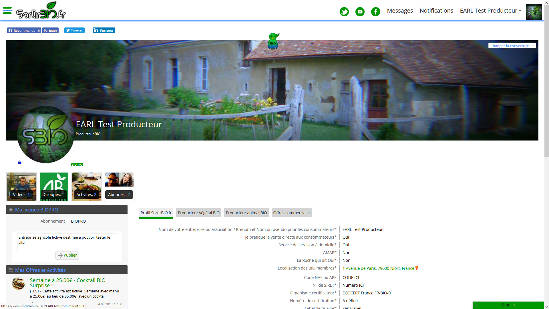 ChamanZOne.com & SortirBIO.fr