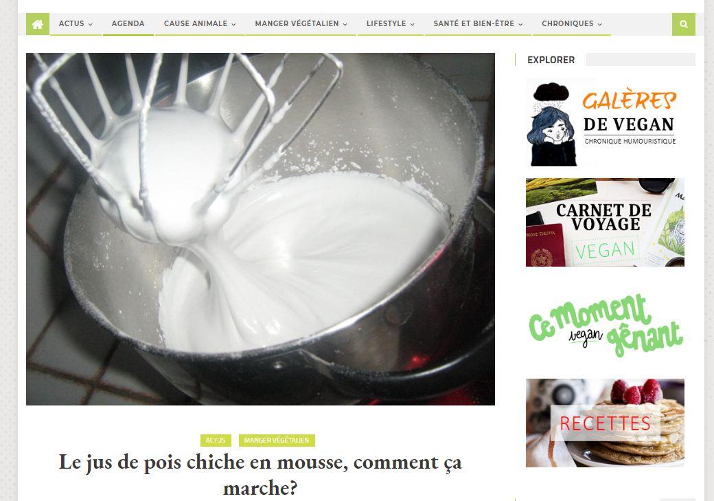 Notre article sur le jus de pois chiches (aqu