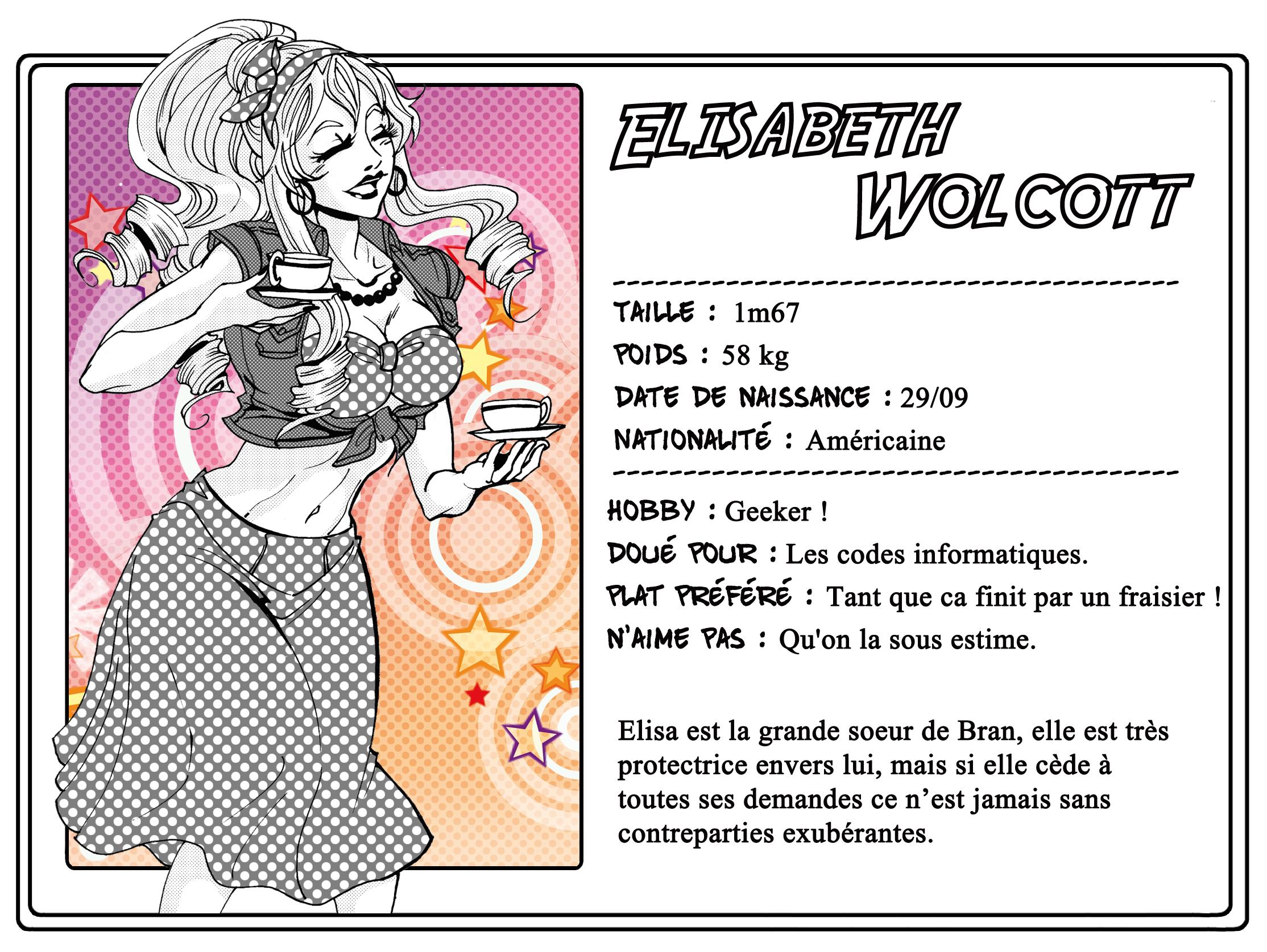 Fiche de personnage PlayGay : Elisabeth