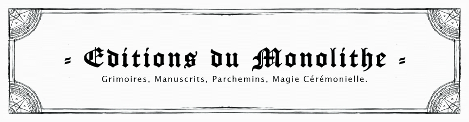 EDITIONS DU MONOLITHE