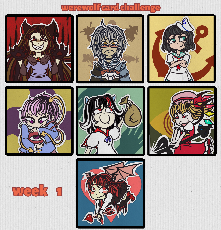 Touhou challenge - cartes de jeu de loup garo