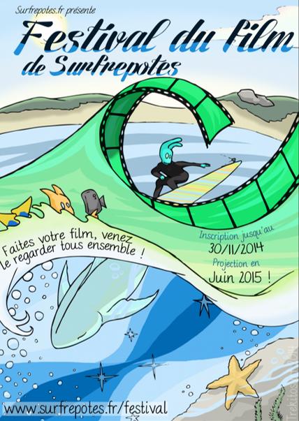 Affiche festival du film de surfrepotes.fr