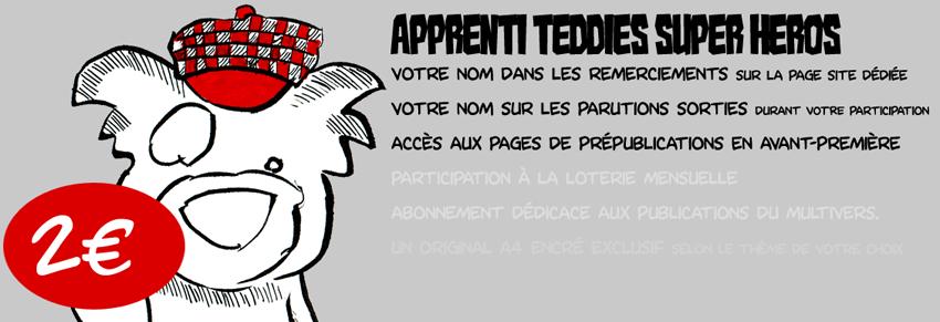 Apprenti Teddies Super Heros