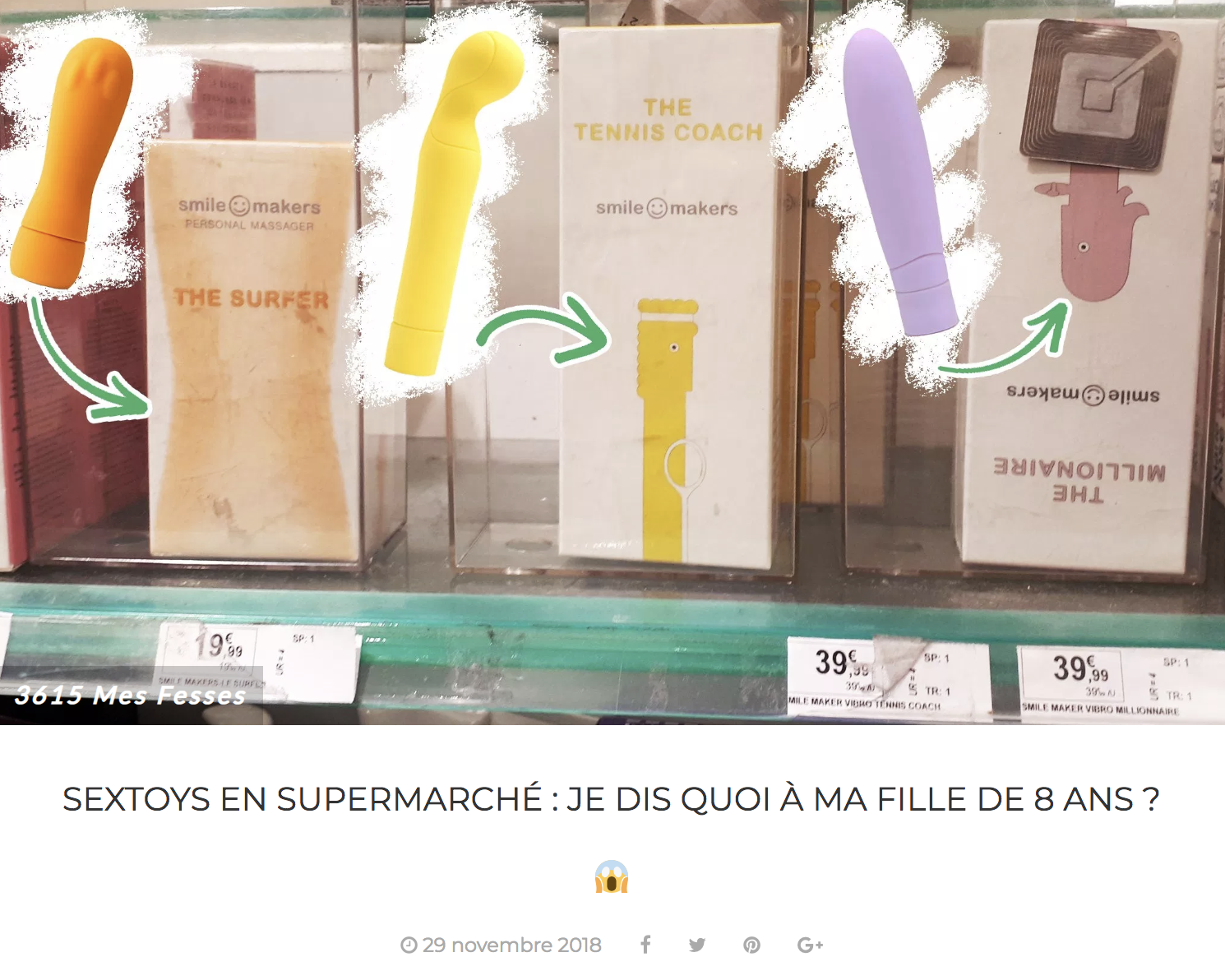 Sextoys en supermarch\u00e9 : je dis quoi \u00e0 ma fille de 8 ans ?