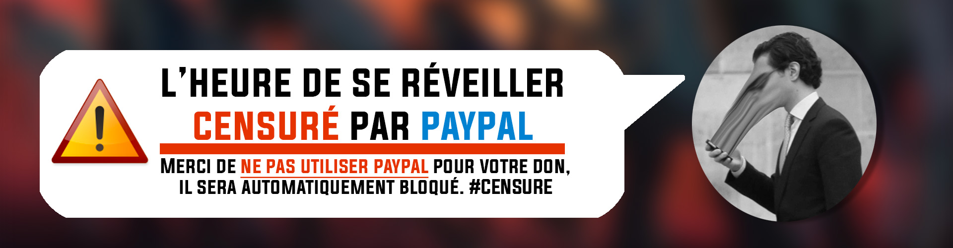 PAYPAL CENSURE