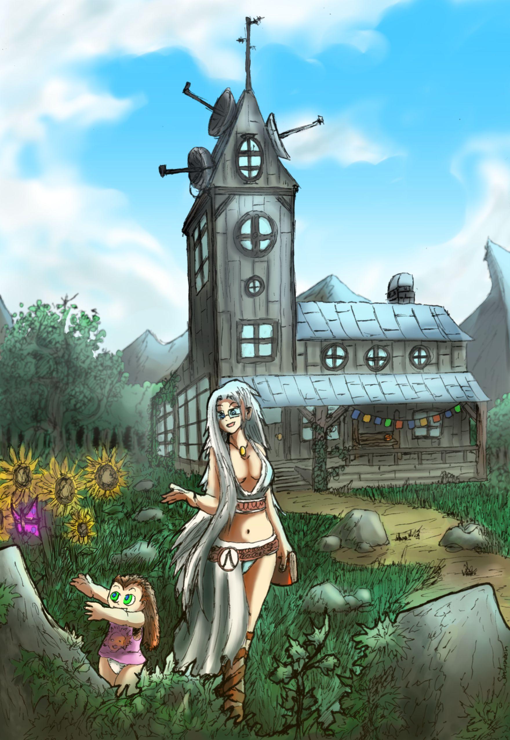 Athena et sa fille Cyriana