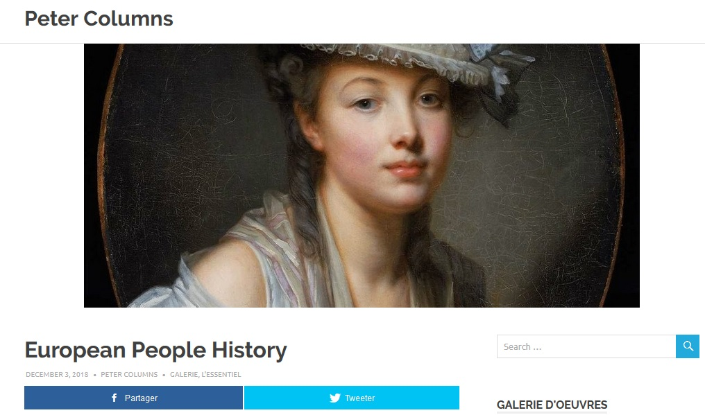 Page du projet 'European People History'
