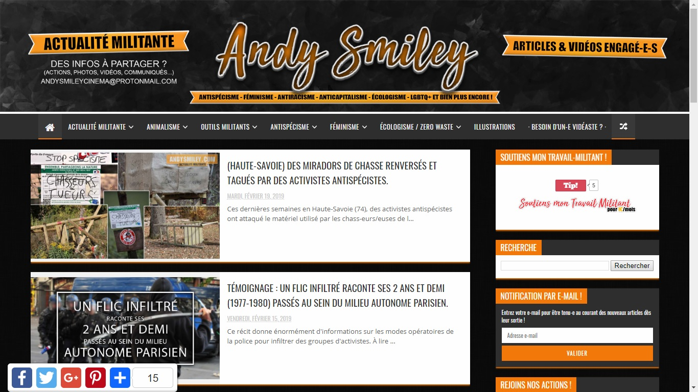 Site web Andy Smiley