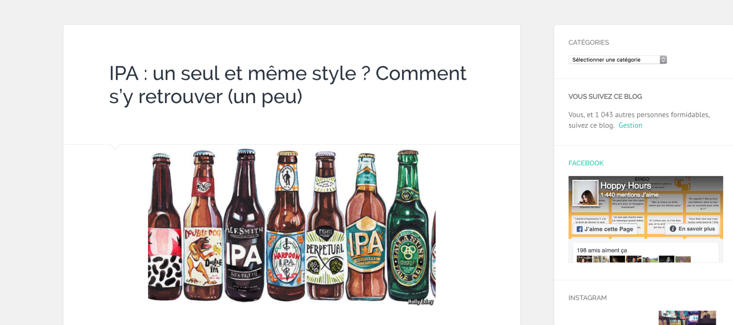 Article : les IPA