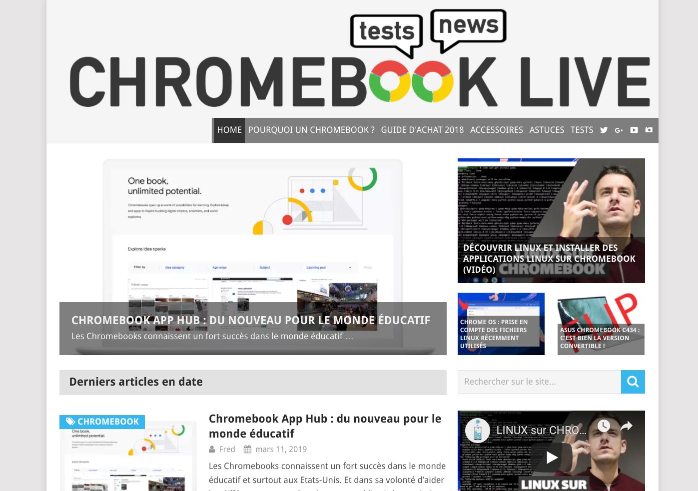 Chromebook Live & Tech Live