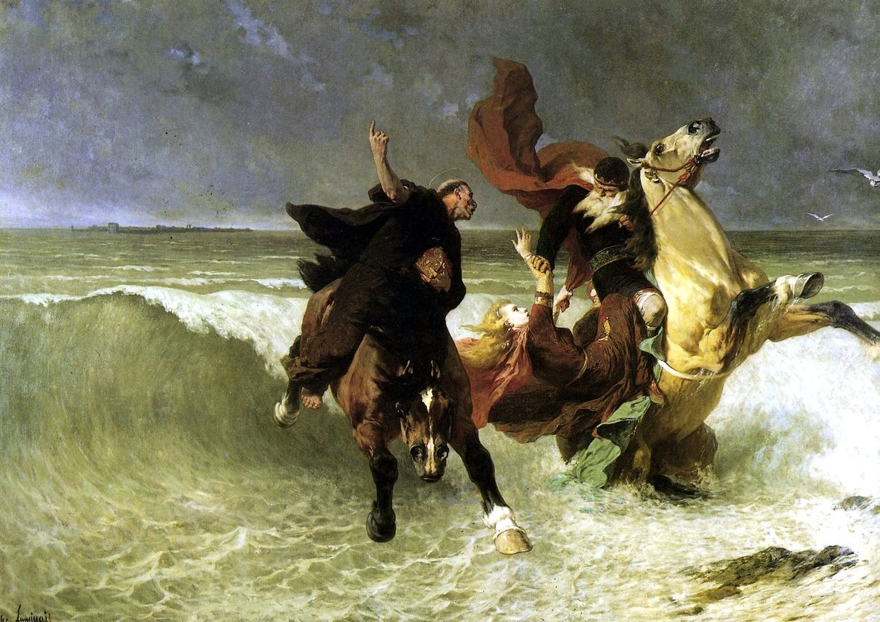 La fuite du roi Grandlon, d'Evariste Vital Luminais