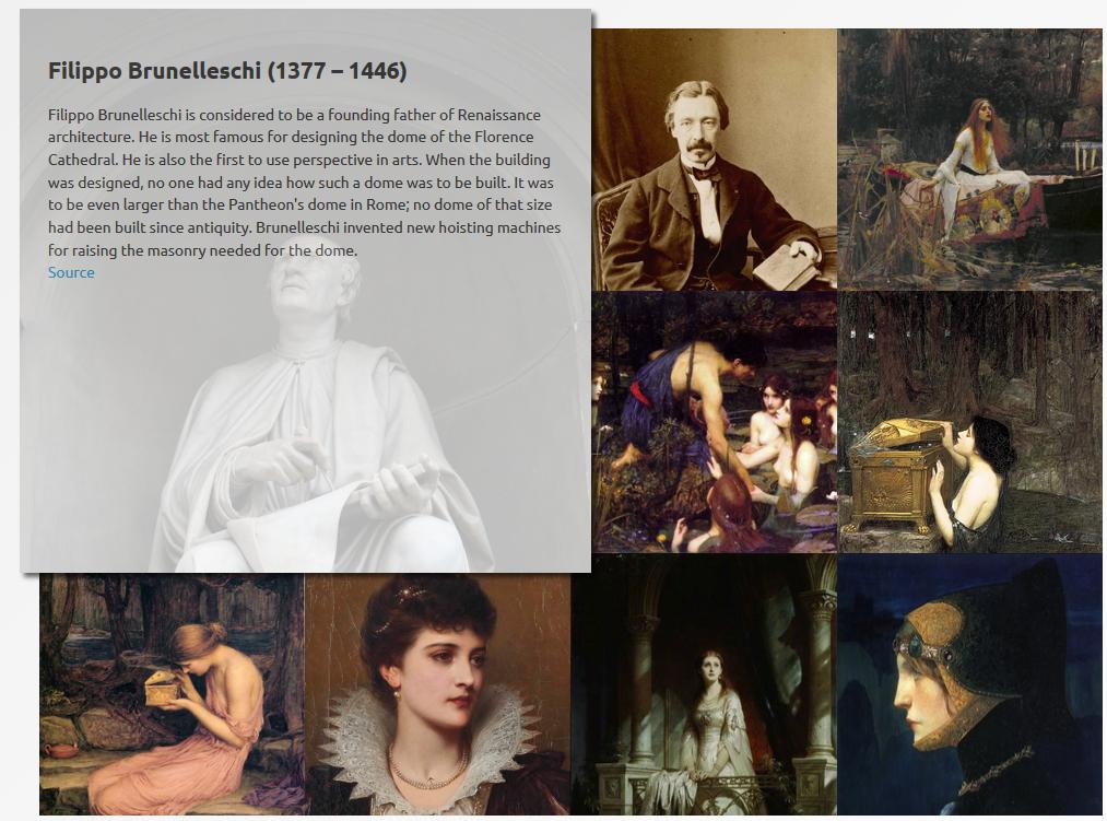 Page du projet 'European People History'