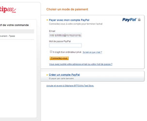 Tiper avec PayPal sur Tipeee